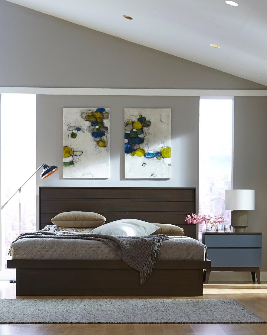 Serra Wood Panel Platform Bed Haiku Designs