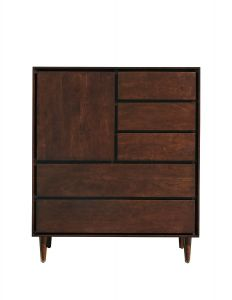 Jensen Door High Chest in Sable