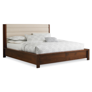 Phase Bed with Upholstered Headboard