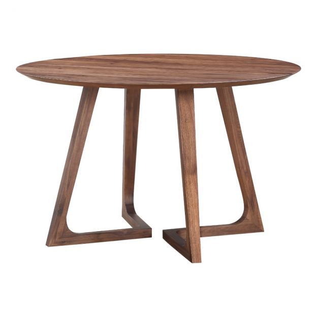 Enza Round Dining Table Haiku Designs, Round Mid Century Modern Dining Table