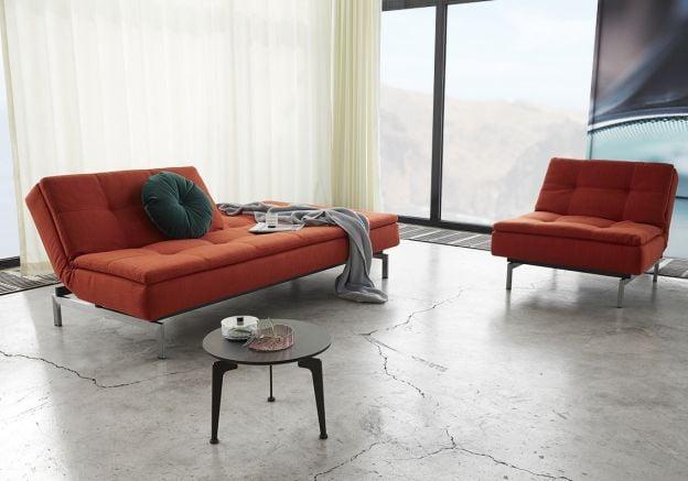 Vogue Sleeper Sofa W Stainless Steel Legs Haiku Designs