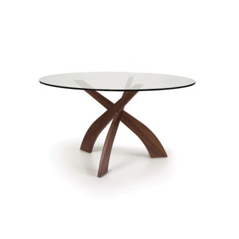 Entwine Glass Top Table