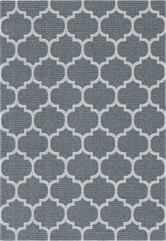 Moroccan Trellis Rug in Dark Gray