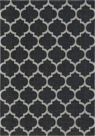 Moroccan Trellis Rug in Black