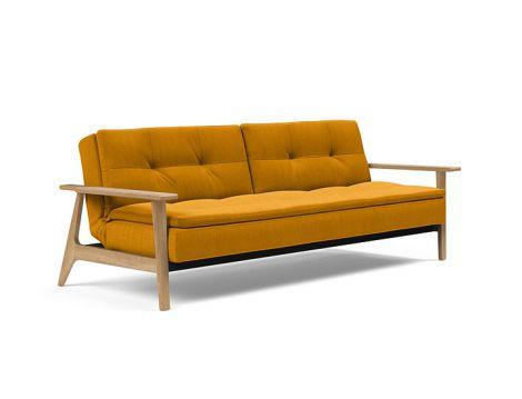 Dublexo Sleeper Sofa w/ Lacquered Oak Legs