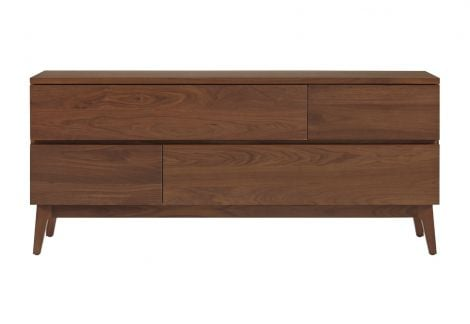 Serra 4 Drawer Dresser in Toast wood finish