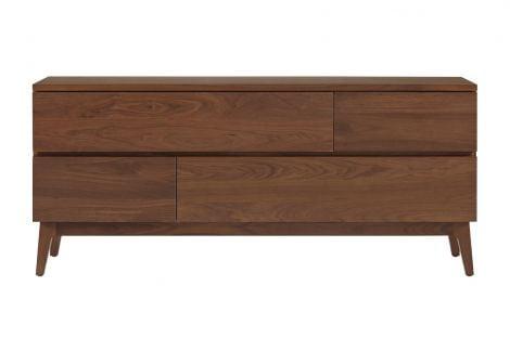 Serra 4 Drawer Dresser in Toast wood finish