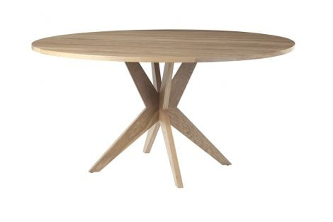 Fulton Round Dining Table in Sand wood finish