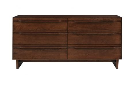 Camber 6 Drawer Dresser in Umber Finish