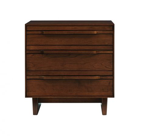 Camber 3 Drawer Chest in Umber Finish