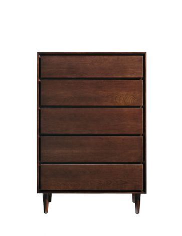 Jensen 5 Drawer High Chest in Sable