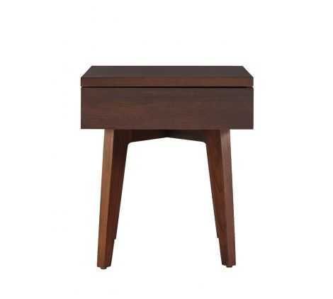 Serra Side Table in Walnut wood finish