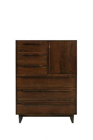 Camber 6 Drawer High Chest in Umber Finish