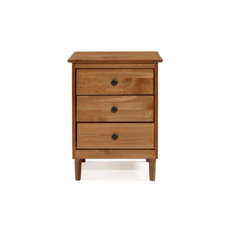 Asher 3 Drawer Nightstand