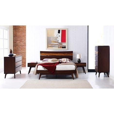 Azara Platform Bedroom Collection in Sable