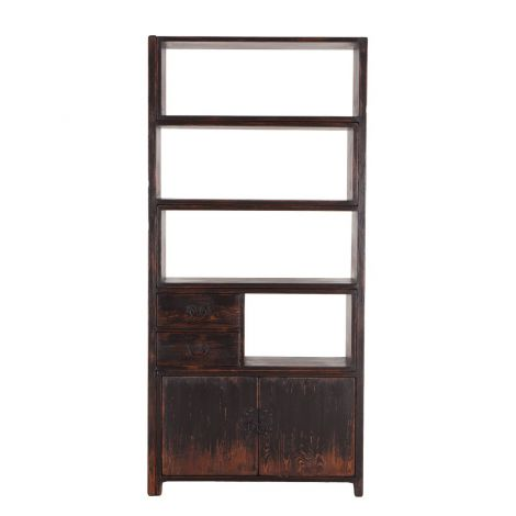 Biblioteche Bookshelf in Antique Black