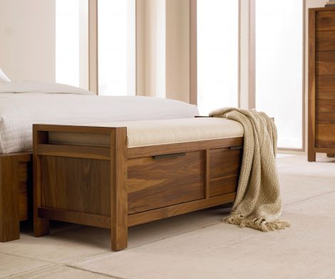 Phase Storage Bench in Toast wood finish