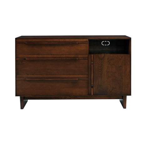 Camber Media Chest in Umber Finish