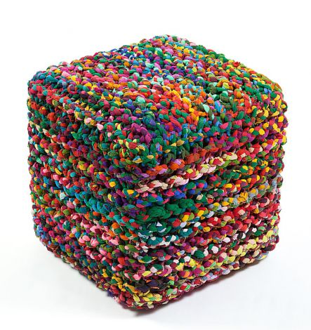 Rainbow Connection Pouf