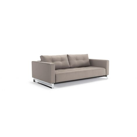 Elan Deluxe Excess Lounger Sofa Bed - Natural, Wood Legs, Sofa Position