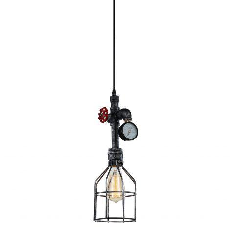Element Industrial Pipe & Gauge Pendant Light