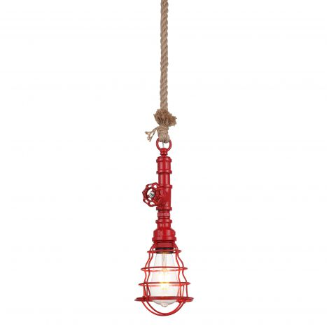 Element Industrial Red Pipe Pendant