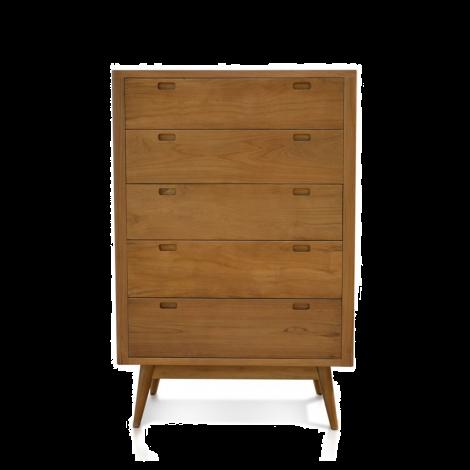 Fifties 5-Drawer Tower Dresser