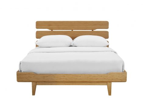 Currant Bamboo Platform Bed in Caramelized