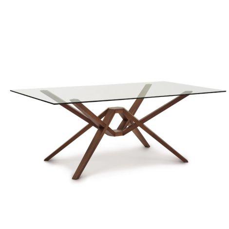Exeter Rectangular Glass Top Table