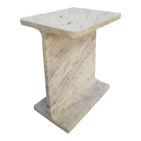 Abacus Marble Accent Table