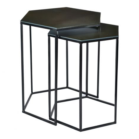 Polygon Nesting Tables- Set of 2