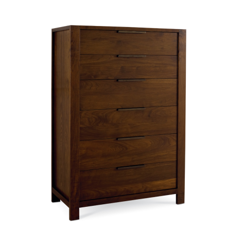 Phase High Chest in Walnut wood finish