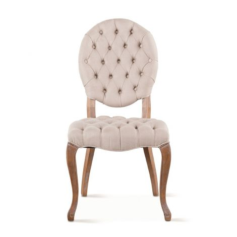 Portia II Linen Tufted Chairs-Set of 2
