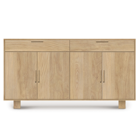 Iso 4 Door 2 Drawer Buffet in Bright Oak