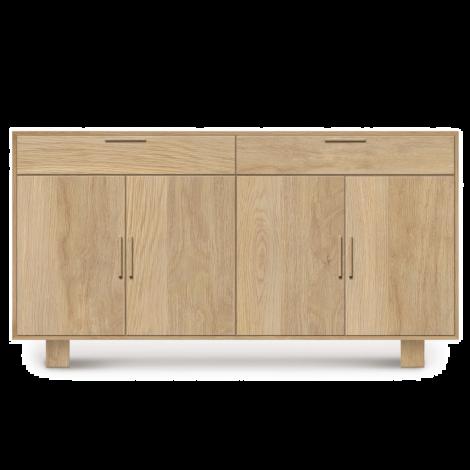 Iso 4 Door 2 Drawer Buffet in Bright Oak
