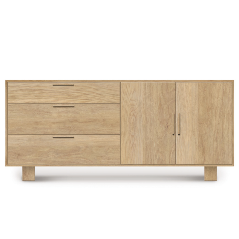 Iso 3 Drawer 2 Door Buffet with Doors on the Right