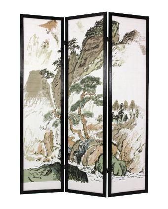 Japanese Landscape Shoji Screen