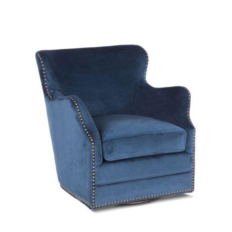 Garner Komodo Blue Swivel Armchair