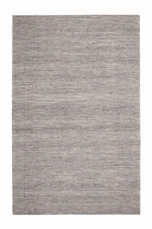 Anthracite Natural Fiber and Upcycled Cotton Rug