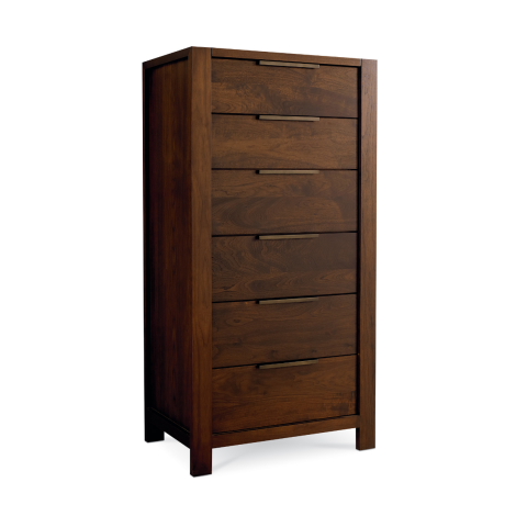 Phase Lingerie Chest in Walnut wood finish