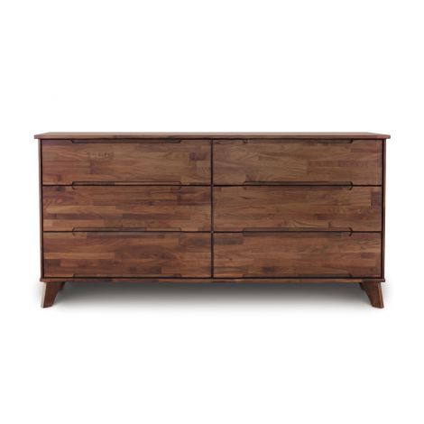 Linn 6 Drawer Dresser in Walnut with a Natural finish