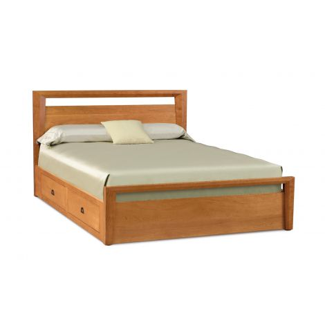 Mansfield Platform Storage Bed in Natural Cherry