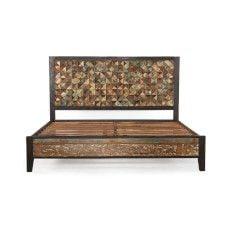 Messina Carved Teak Wood Platform Bed