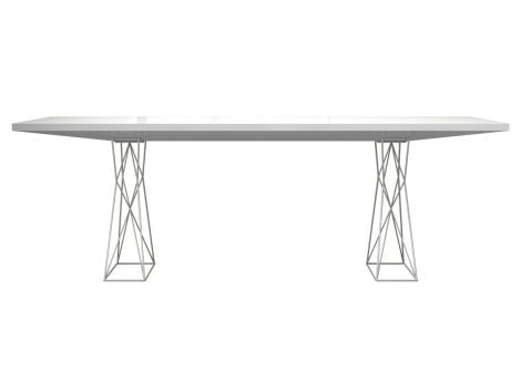 Curzon Dining Table in White Lacquer
