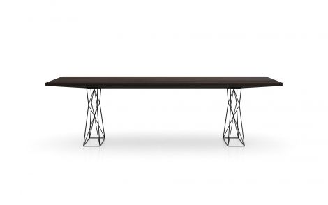 Curzon Dining Table in Smoked Oak