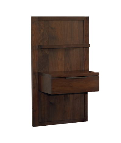 Phase Panel Nightstand in Walnut wood finish