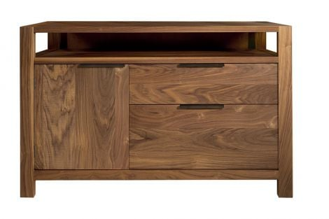 Phase File Credenza in Toast wood finish