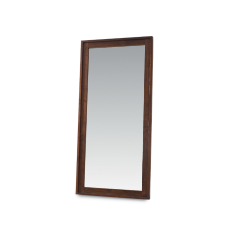 Phase Floor Mirror in Walnut wood finish