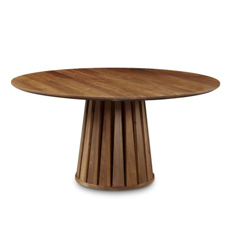 Phase Round Dining Table in Toast wood finish
