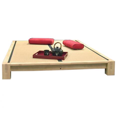 Raku Tatami Platform Bed in Dark Walnut.  With Tatami Mats (sold separately)